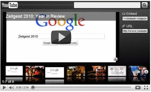 Se video om året 2010 ifølge google